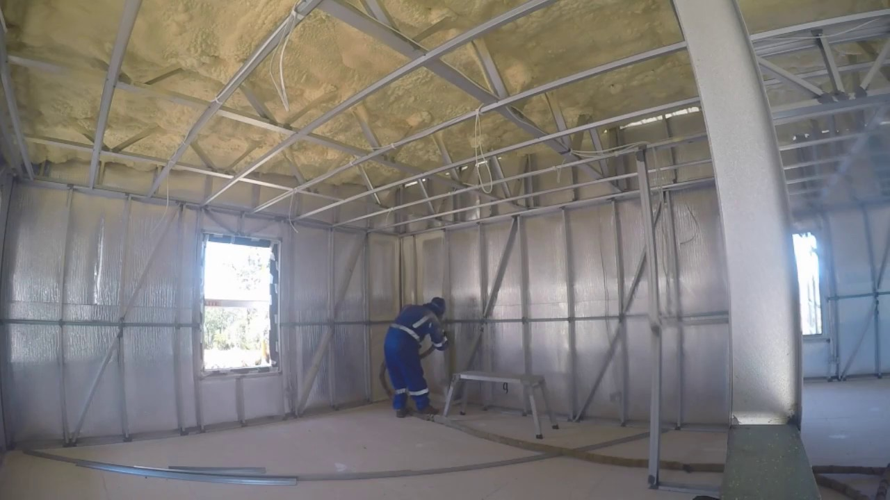 Spray foam insulation start to finish on a steel frame house perth spray foam insulation start to finish on a steel frame house perth wa solutioingenieria Image collections