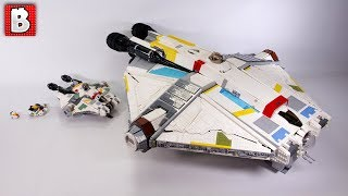 Giant LEGO UCS Ghost From Star Wars Rebels - Minifig Scale Bigger Than UCS Falcon!