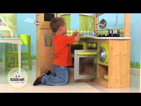 KidKraft Kinderküche Lime 53274 - YouTube