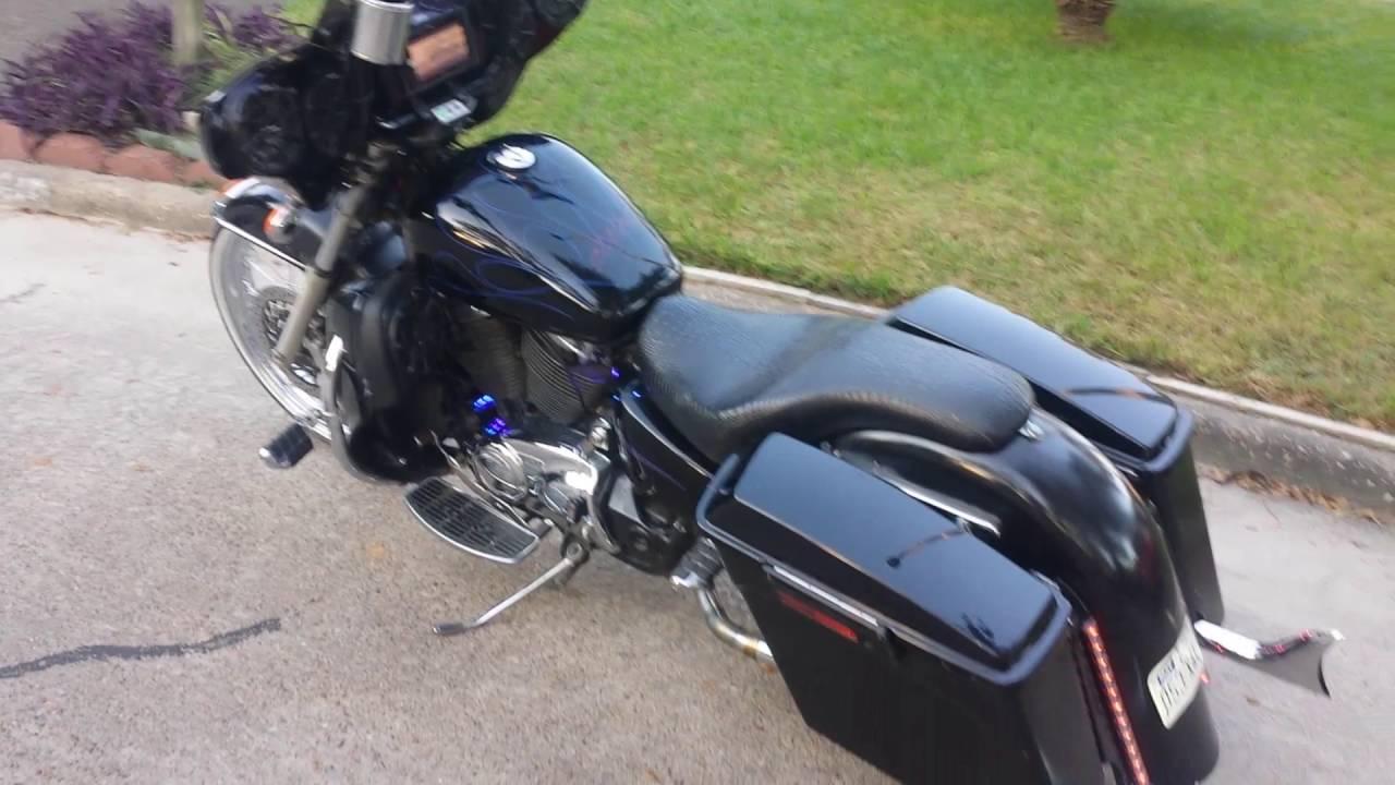 h town 23in custom honda bagger [ 1280 x 720 Pixel ]