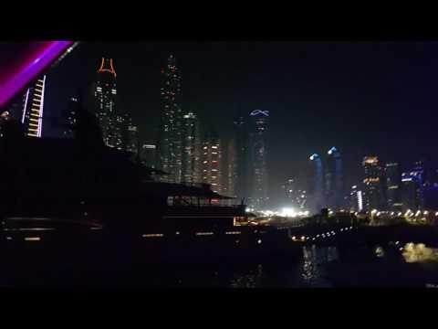 Royal Yachts at Dubai Marina seen from a Yacht 05.11.2016