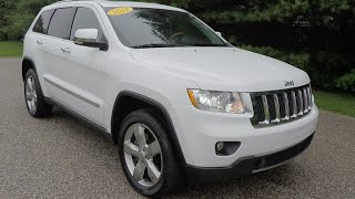 2013 Jeep Grand Cherokee Overland 4X4 | White | Martinsville, IN | 17989A