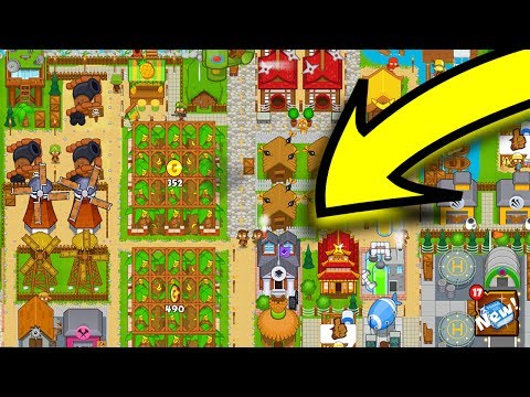 🍌CREATING MY OWN MONKEY VILLAGE! 🐵 - Bloons Monkey City! 🎈 (Bloons Tower Defence)