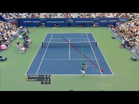 Roger Federer's 'Imaginary Line Rule' + Running PLAYS