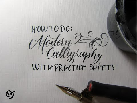 How to learn modern calligraphy tutorial for beginners youtube
