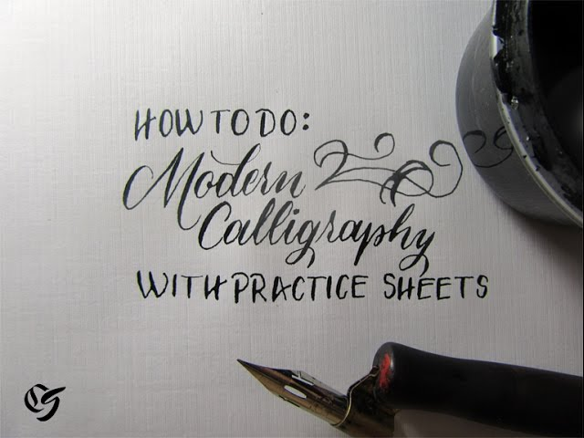 How To Learn Modern Calligraphy Tutorial (For Beginners) - YouTube