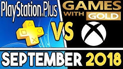 PS+ VS Xbox Games With Gold (SEPTEMBER 2018 Free Games)