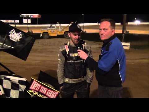 Travis Scott in victory lane at Path Valley 3-26-16