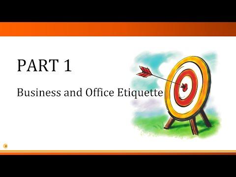 Business Etiquette and Office Etiquette