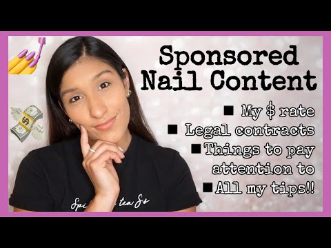 How much to charge for nail swatches? All about sponsored posts, sneaky contracts, and other things!