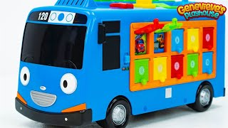 Best Learning Video for Toddlers Learn Colors Counting Genevieve, Tayo Bus, & Pororo Kids School Bus