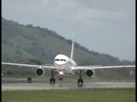 B757 Arrow air Take off in MHLM, San Pedro Sula, Honduras