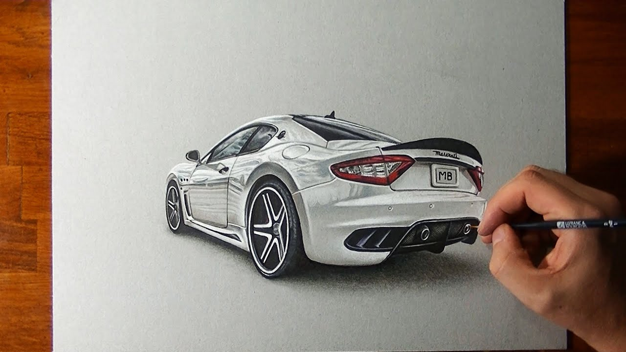 Amazing Maserati Granturismo Drawing