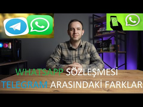 WHATSAPP SÖZLEŞMESİ | TELEGRAM ARASINDAKİ FARKLAR