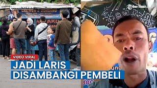 Penjual Odading di Bandung, Viral Gara-gara Punya Gaya Unik Saat Promosikan Dagangannya
