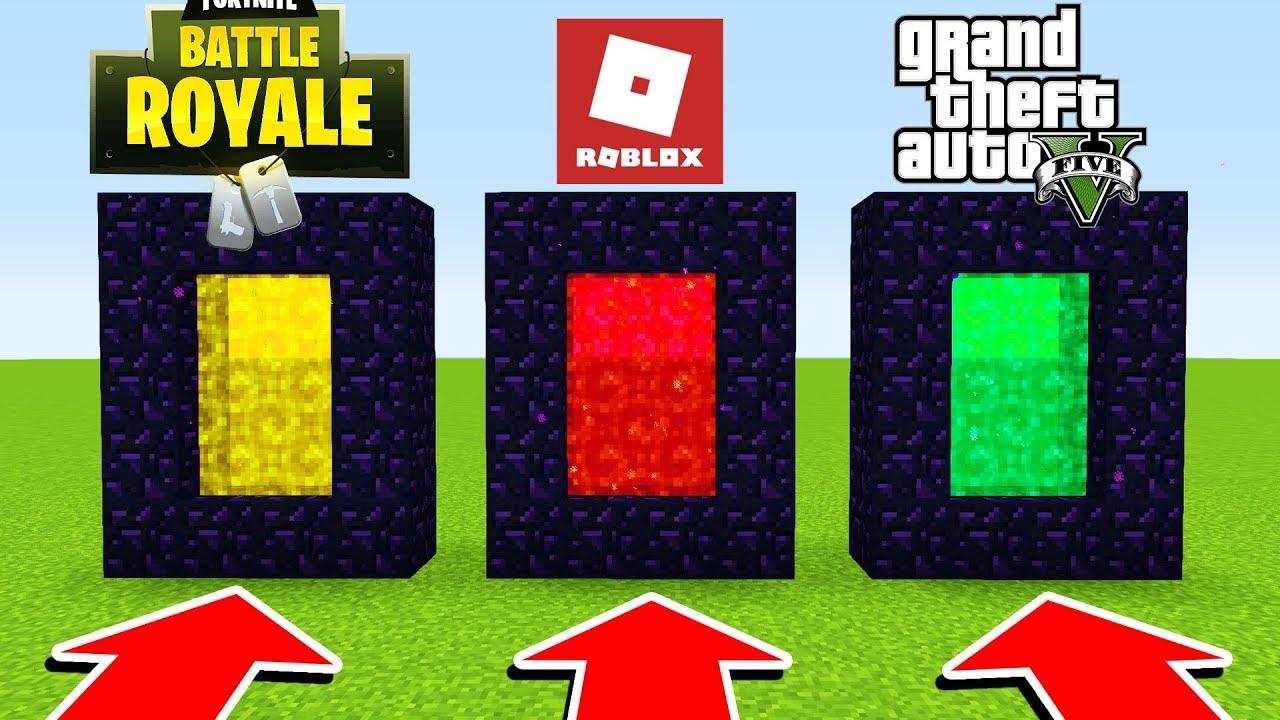 Minecraft  : DO NOT CHOOSE THE WRONG PORTAL (Roblox,Fortnite,GTA 5)(Ps3/Xbox360/PS4/XboxOne/PE/MCPE)