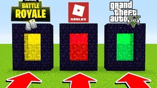 Minecraft : DO NOT CHOOSE THE WRONG PORTAL (Roblox,Fortnite,GTA 5)(Ps3/Xbox360/PS4/XboxOne/PE/MCPE)