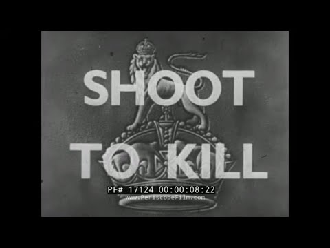"""SHOOT TO KILL""  WORLD WAR II  BRITISH ARMY INFANTRY WEAPONS  TRAINING FILM  BREN GUN  17124"
