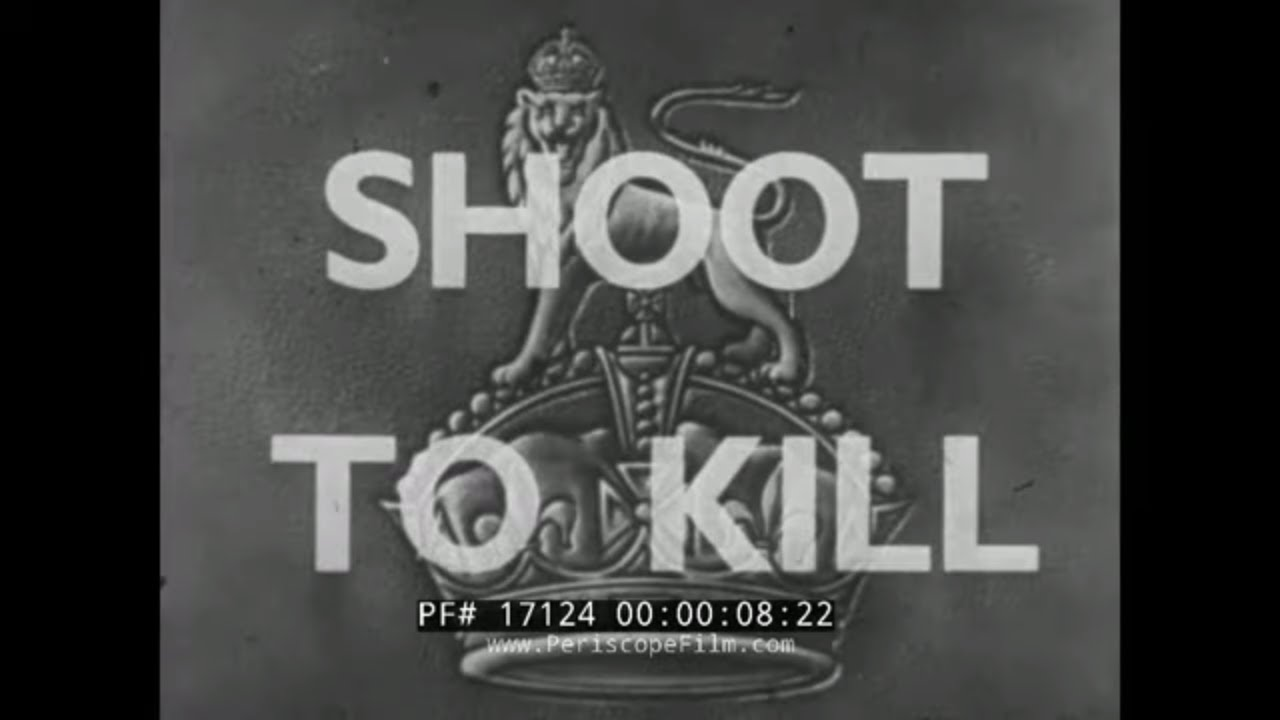 """SHOOT TO KILL""  WORLD WAR II  BRITISH ARMY INFANTRY WEAPONS  TRAINING FILM  BREN GUN  171"