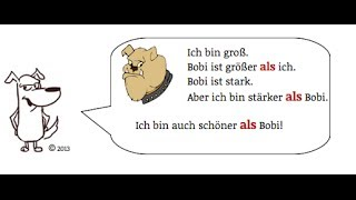 Video German Grammar: Komparativ & Superlativ TEIL 2 A2 || Ich bin schöner ALS Bobi download MP3, 3GP, MP4, WEBM, AVI, FLV Juli 2018