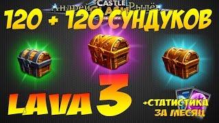 Битва Замков, Epic! 120 + 120 сундуков лавы 3, +статистика за месяц, Castle Clash