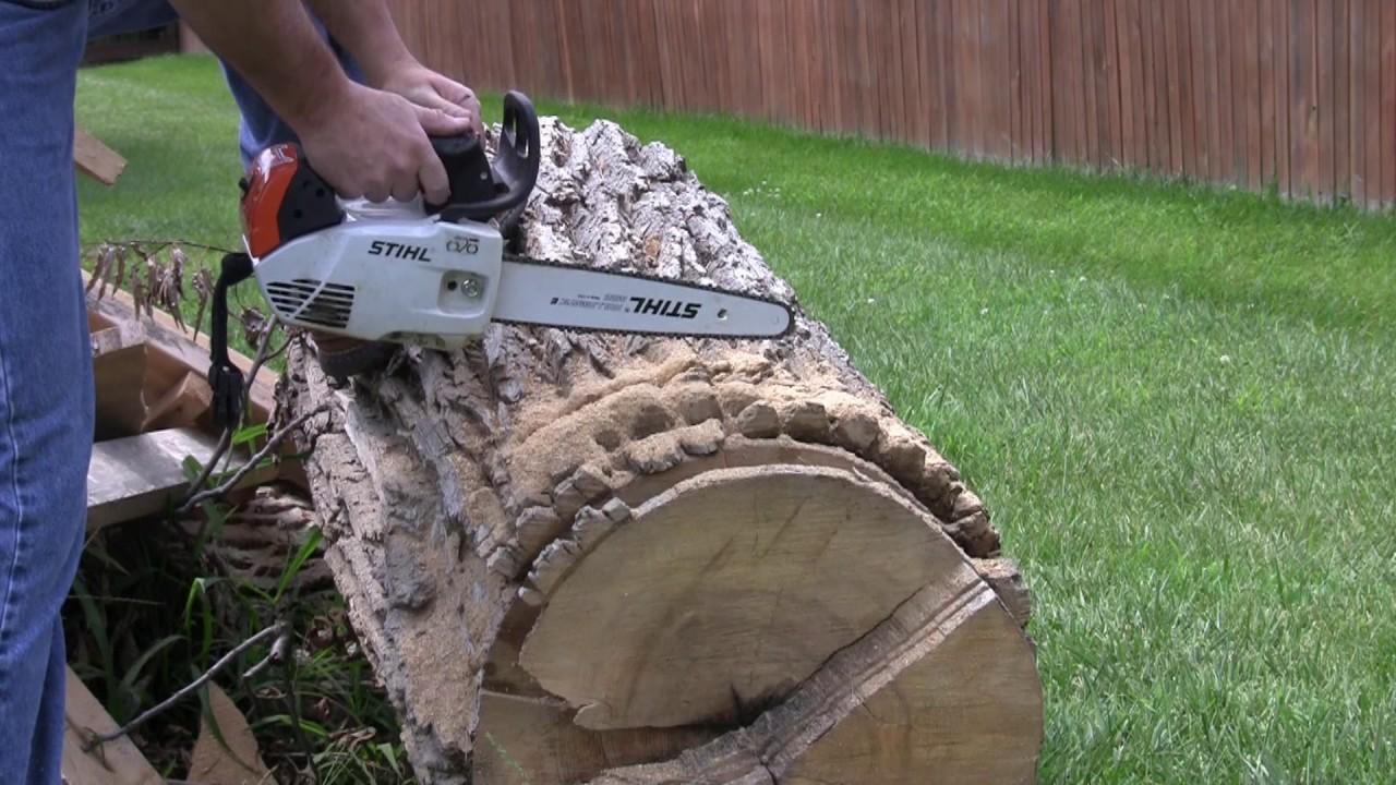 Improperly tuned Stihl MS150TC Chainsaw