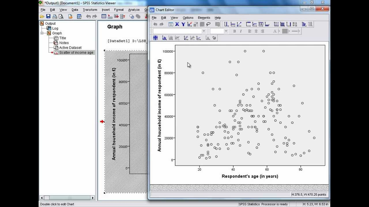 Spss tutorials generating and editing a simple scatter plot youtube spss tutorials generating and editing a simple scatter plot ccuart Images