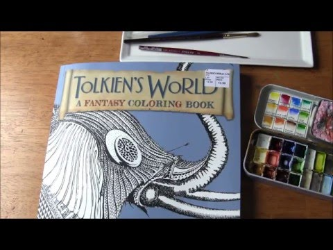 How I Watercolor On Coloring Books