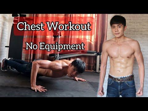 Home Chest Workout no Equipment. เล่นกล้ามอกที่บ้านไม่ใช้อุปกรณ์