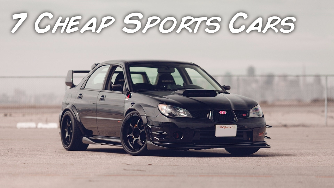 Top 7 cheap sports cars that you can have as your first car