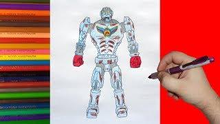 How to draw robot Ambush, Real Steel, Как нарисовать робота Амбуш, Живая Сталь
