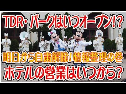 「TDR」6月1日自粛要請解除!ディズニーホテルやオフィシャルホテルはどうなる?パークのオープンはいつ?(Tokyo Disney Resort)