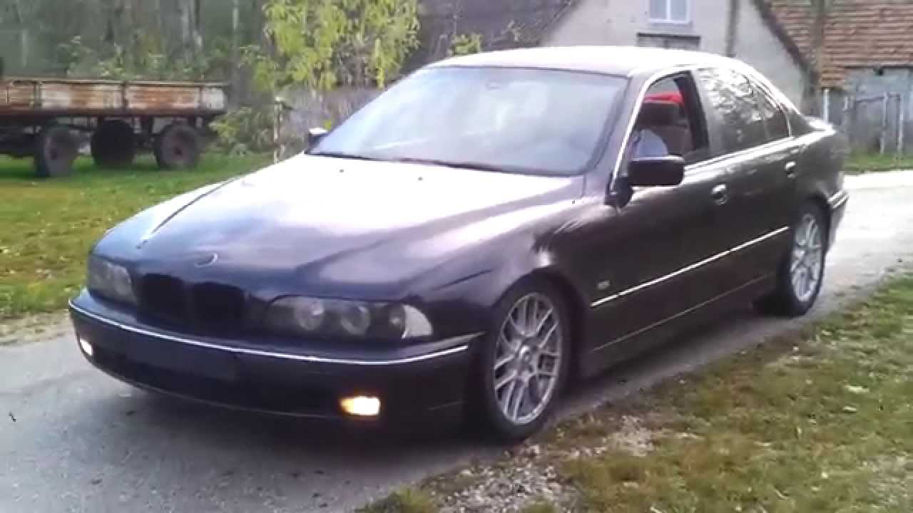 bmw e39 540i 4 4 v8 engine brutal custom exhaust sound youtube. Black Bedroom Furniture Sets. Home Design Ideas