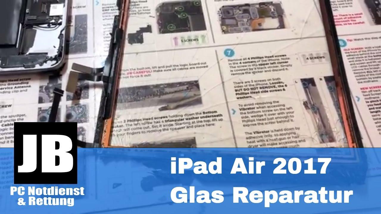 iPad Air 2017, iPad 5 (A1474) Display Glas Reparatur ...