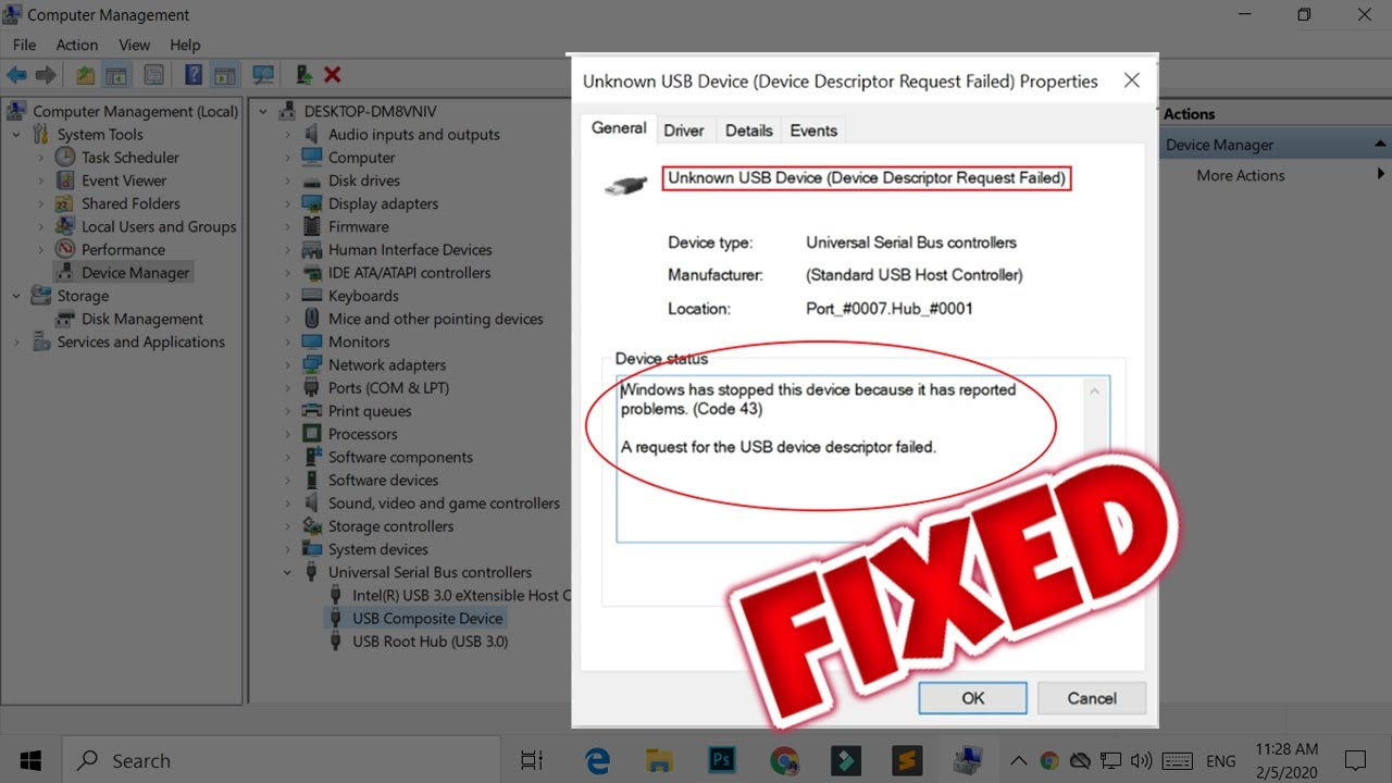 Unknown usb device driver for windows 10