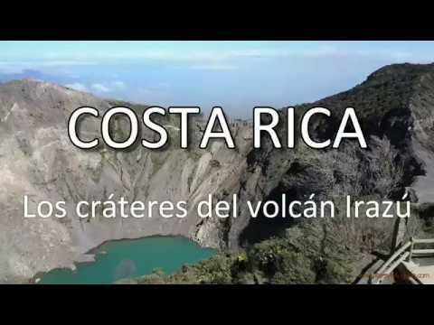 El volcán Irazú a vista de dron