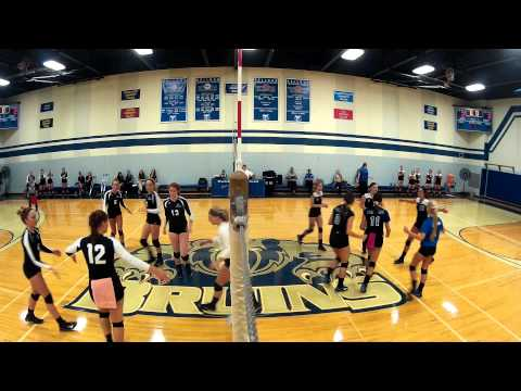 KCC volleyball vs. Kalamazoo Valley Community College, 9/11/14