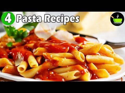 4 Pasta Recipes | Indian Style Pasta Recipes | Quick & Easy Pasta Recipes| Pasta Lunch Dinner Recipe