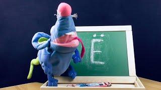 Вивчаємо літери російського алфавіту з Розумною Пацюком   Літера Е   Говорить щур