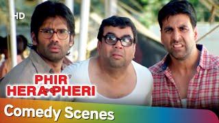 Lo mejor de las escenas de comedia | Superhit Movie Phir Hera Pheri | Paresh Rawal - Akshay Kumar - Rajpal Yadav