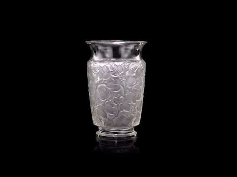 Vintage 20thc French Lalique Deauville Glass Vase C1941 Youtube