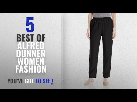 Alfred Dunner Women Fashion [2018 Best Sellers]: Alfred Dunner Women's Petite Average Pant, Black,