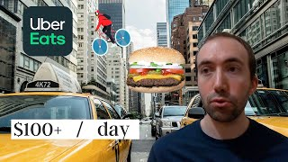 I Became a Bicycle Uber Eats Driver in NYC   How Much Did I Earn in One Day?