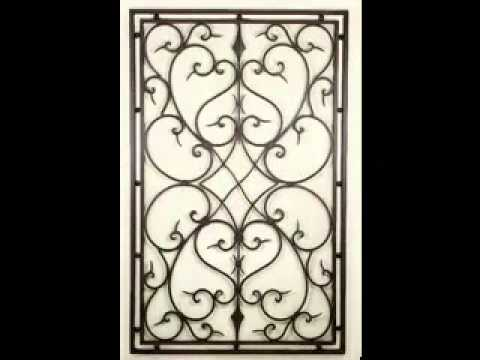 Wrought iron wall decorating ideas