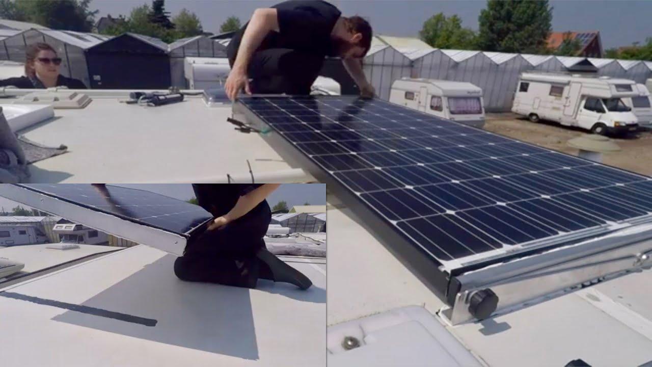 ☀️ Solar Wohnmobil selbst montieren  Kleben mit Sikaflex