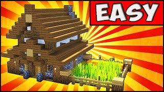 Simple Compact and Cute Survival House Minecraft Tutorial YouTube