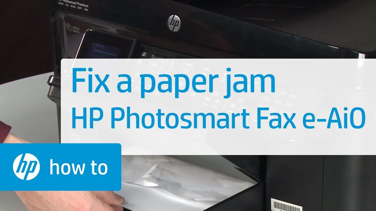 Fixing A Paper Jam Hp Photosmart Premium Fax E All In
