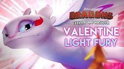 THE VALENTINE LIGHT FURY! Unlocking Legendary Dragon | Dragons: Titan Uprising