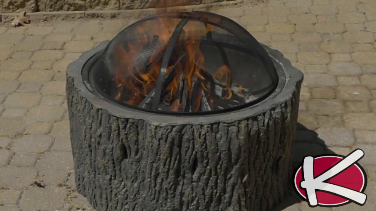 Tree Stump Fire Pit Youtube