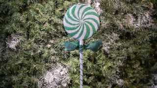 Christmas Candy Green White Christmas Ornament